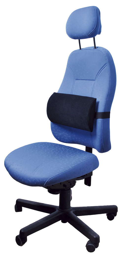 Lumbar pad cushion on office chair